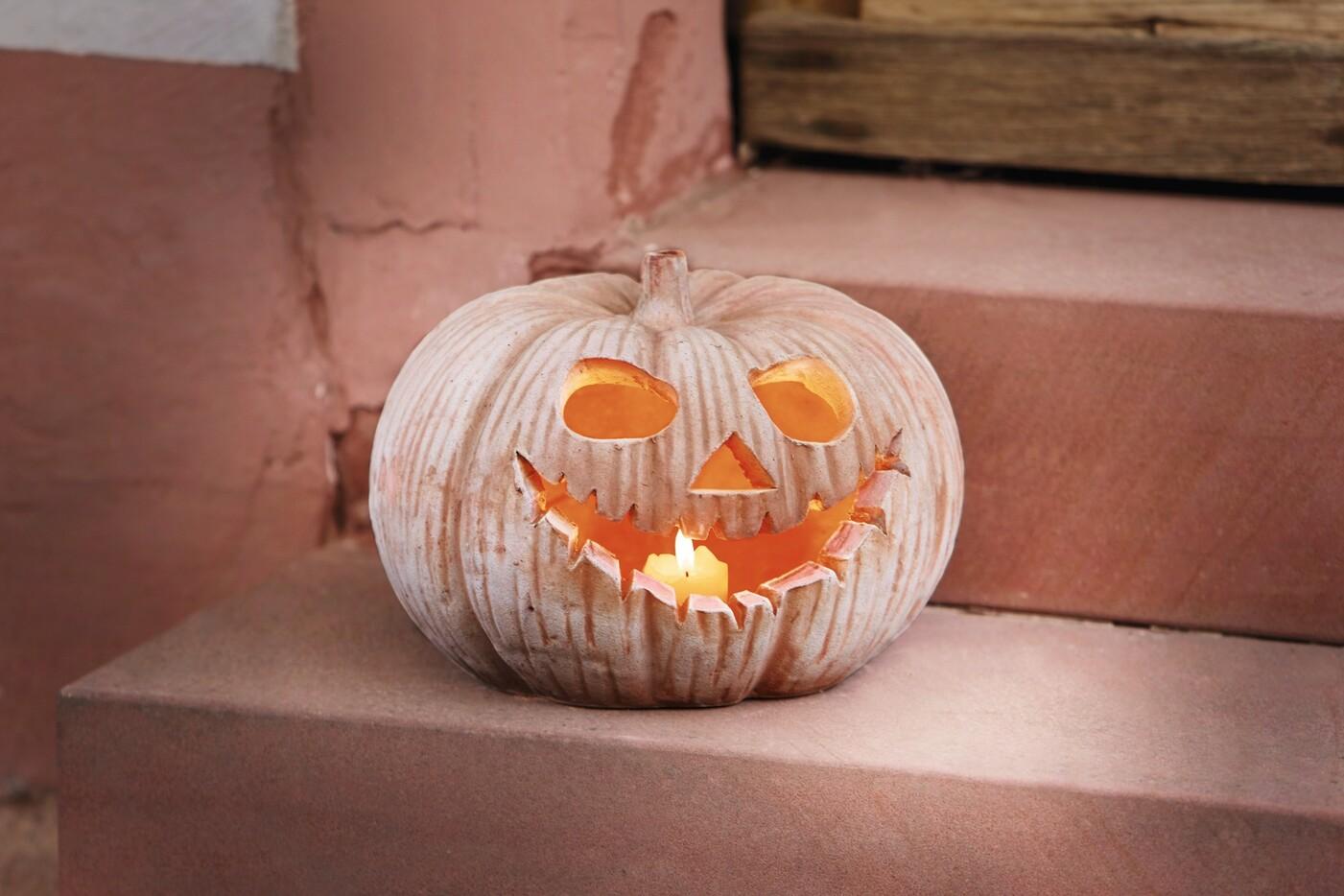 Kurbis Windlicht Halloween Gross