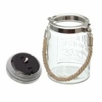 """Solarglas """"Home"""" jetzt für 7.95 Euro kaufen im Frank Flechtwaren und Deko Online Shop"""