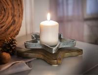 """Kerzenhalter """"Silberstern"""" jetzt für 5.95 Euro kaufen im Frank Flechtwaren und Deko Online Shop"""