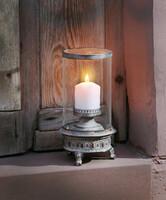 """Windlicht """"Shabby-Grey"""" jetzt für 24.95 Euro kaufen im Frank Flechtwaren und Deko Online Shop"""