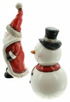 """Figur """"Santa & Schneemann"""", 2er Set jetzt für 3.95 Euro kaufen im Frank Flechtwaren und Deko Online Shop"""