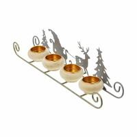 """Teelichthalter """"Weihnachtsschlitten"""" jetzt für 9.95 Euro kaufen im Frank Flechtwaren und Deko Online Shop"""