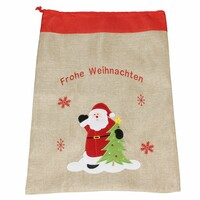 """Geschenkesack """"Frohe Weihnachten"""" jetzt für 3.95 Euro kaufen im Frank Flechtwaren und Deko Online Shop"""