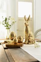 """Osterei """"Gold"""", 3er Set jetzt für 5.95 Euro kaufen im Frank Flechtwaren und Deko Online Shop"""