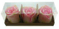 """Kerze """"Rose"""", 3er Set jetzt für 6.95 Euro kaufen im Frank Flechtwaren und Deko Online Shop"""