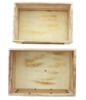 """Aufbewahrungsbox """"Leaves"""", 2er Set jetzt für 11.95 Euro kaufen im Frank Flechtwaren und Deko Online Shop"""