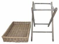"""Tablett """"Shabby"""" auf Holzgestell jetzt für 19.95 Euro kaufen im Frank Flechtwaren und Deko Online Shop"""